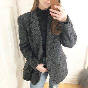 Vintage Scottish Harris Tweed Wool Blazer Moores